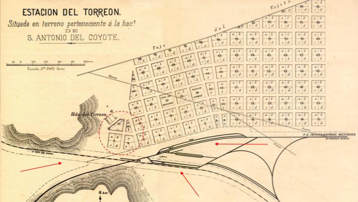 Torreón map detail